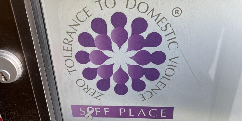 Safe place door sticker